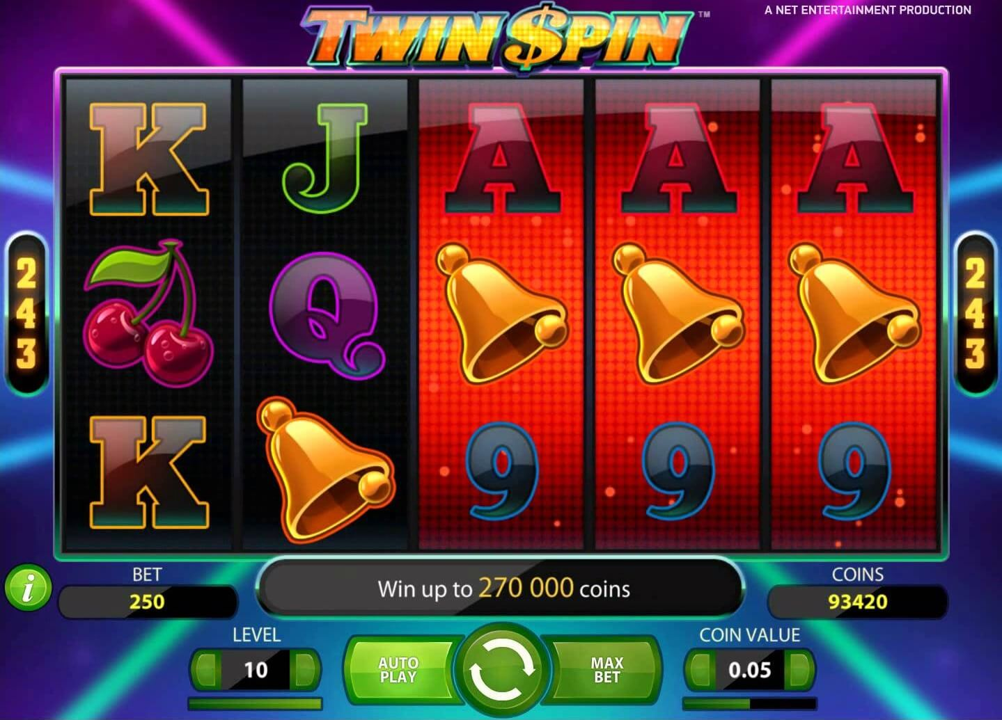 twin spin pokies netent